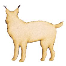 3mm MDF Wood Laser Cut Craft Shapes - Wolf with Tufts